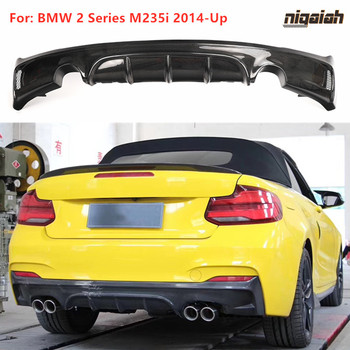 M235i Carbon Fiber Rear Diffuser for BMW F22 M Sport M235i 2014-Up EXOT Style One Two Outlet 2 Series M-TECH Bumper Lip Diffuser image