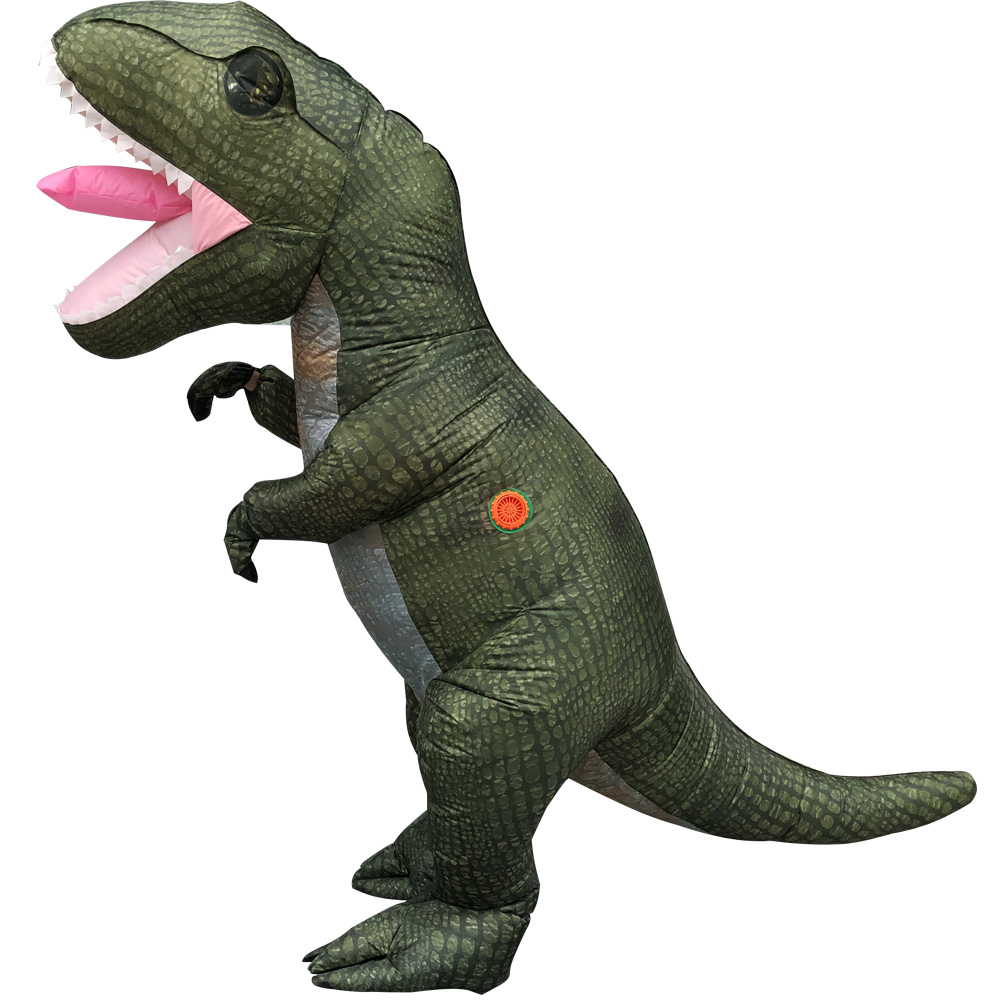 Newest Inflatable Dinosaur Costume Adult Dino Mascot Anime Cosplay Party Animal clothes Jumpsuit Halloween Costume for men women