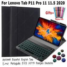 Backlight Keyboard Case For Lenovo Tab P11 Pro 11 11.5 2020 Tab-J606F  Tab-XJ706f Russian Spanish Arabic Hebrew Keyboard Cover