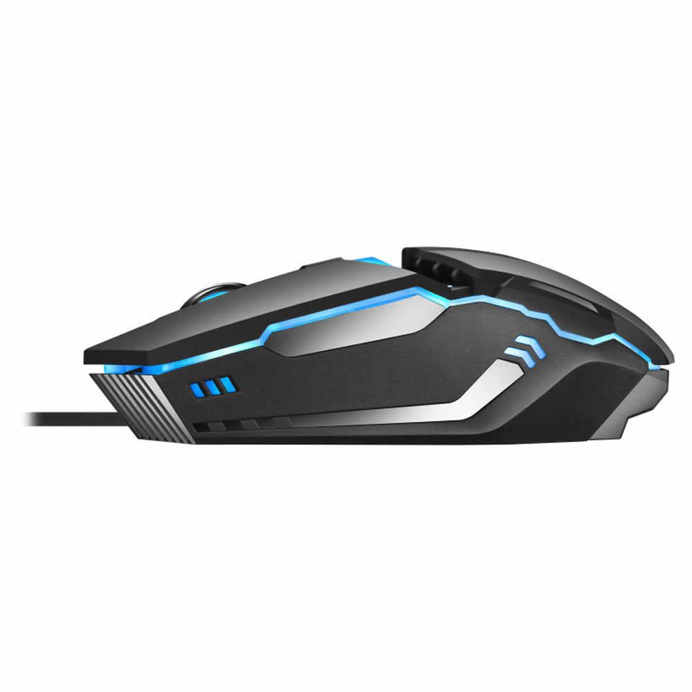 HXROOLRP mouse da gioco ha fissato il mouse gamer per overwatch di gioco Computer portatile del pc mouse ergonomico wired silenzioso Glow mouse Per Computer