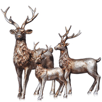 European Deer Furnishing Household Decor Wine Cabinet Display family Animal Living Room Ornament Christmas Gift Statue Figurine