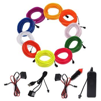 цена на EL Wire LED Neon Light Flexible 6MM Light Strip 3V 5V 12V LED Rope Tube Sewable Tagled Lamp Dance Party Car Decor 1m 2m 3m 5m