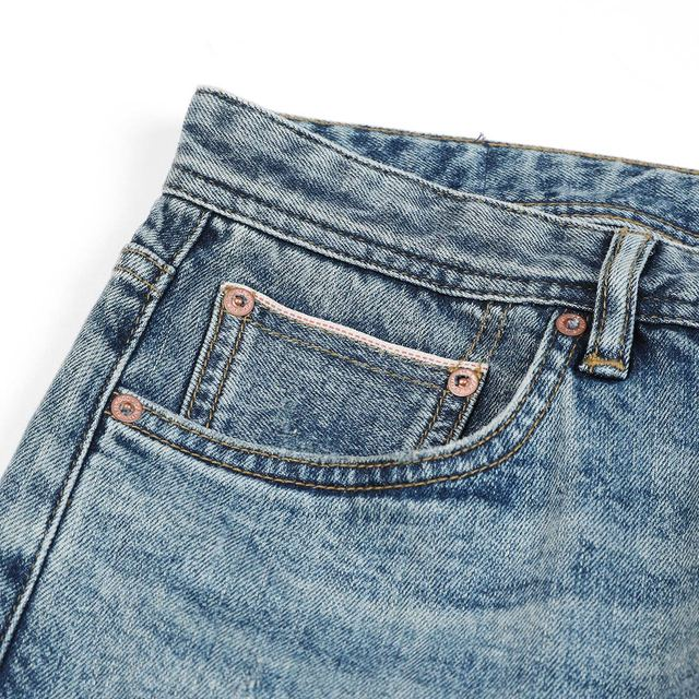 Slim-Fit Tapered Jeans with bottom selvedge