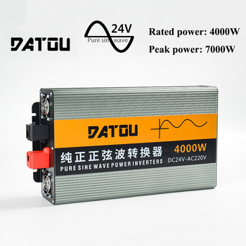 7000W Car Inverter Voltage Adapter Pure Sine Wave Converter 24V to 220V Charger Converter Adapter Car Buddy Rated Power 4000W 5000w pure sine wave car inverter 24v to 220v transformer car power inverter charger converter adapter auto parts rated 4000w