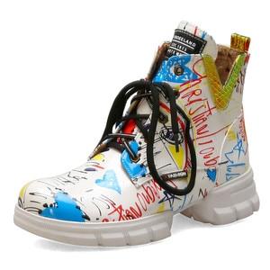 Image 2 - FEDONAS الكلاسيكية البروغ حذاء أيرلندي أحذية طويلة النادي الليلي الأحذية امرأة جلد طبيعي عالية الكعب النساء حذاء برقبة للركبة فاسق دراجة نارية الأحذية