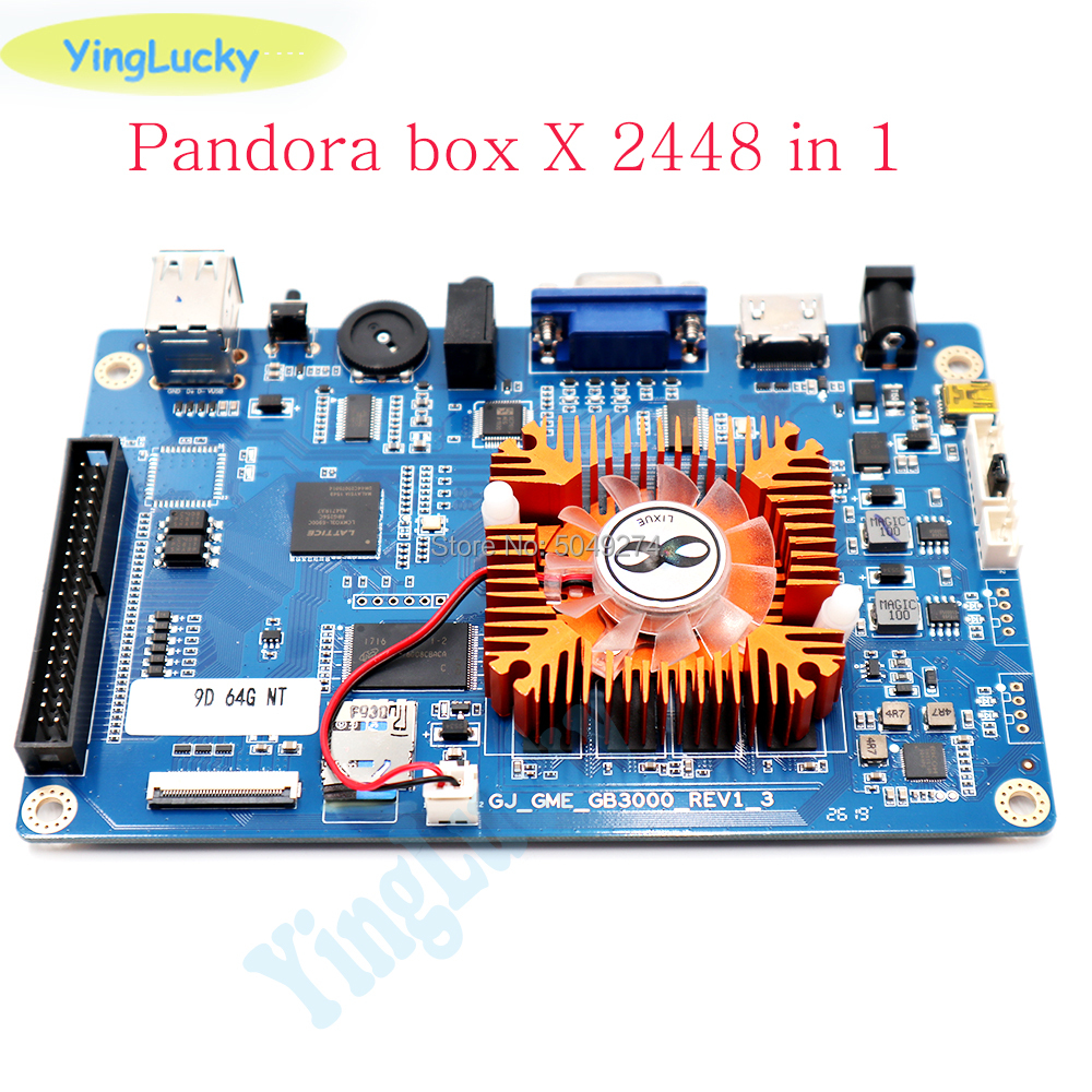 Pandora Box Save Function 3D Wifi 2448 In 1 Retro Arcade Games PCB 134 * 3D Games HDMI VGA Output From Motherboard Support Ad