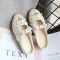 Демисезонная обувь принцессы для девочек; модная детская обувь с острым закрытым носком; обувь с заклепками для маленьких детей; тонкие мяг...