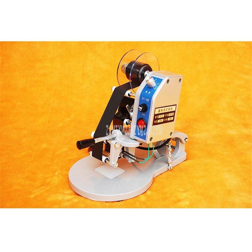 DY-8 Handheld Elektrische Direkt Heizung Band Ablaufdatum Drucker Kunststoff Tasche Produktion Datum Drucker Manuelle Druck Maschine