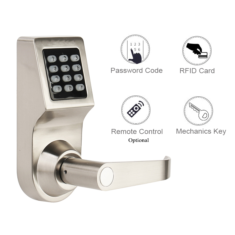 Home Electric Door Lock RFID Digital Lock Gate Opener Mechanical Code Lock Handle Battery Phone TTLock Bluetooth Lock