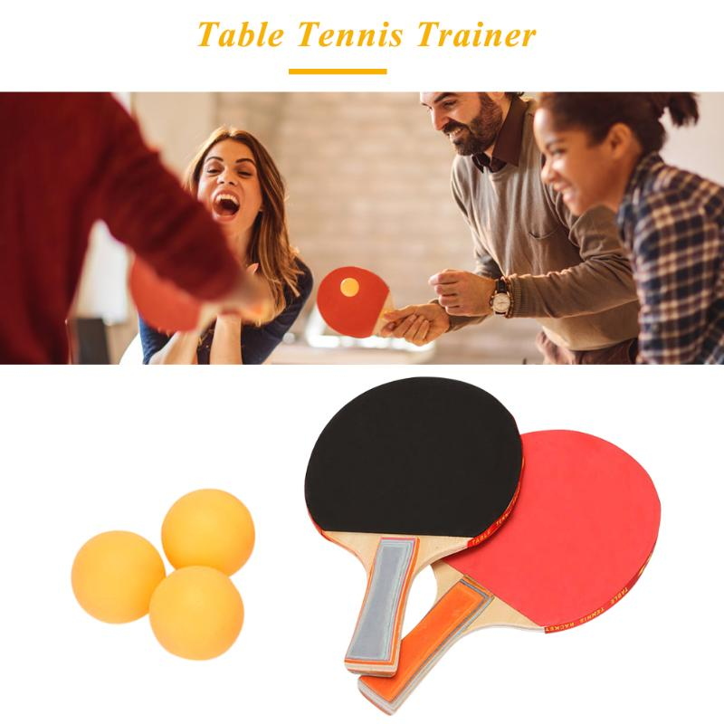 Table Tennis Training Practise Machine Portable Home Indoor Soft Shaft Ping Pong Trainer For Teenagers Kids Children Beginners