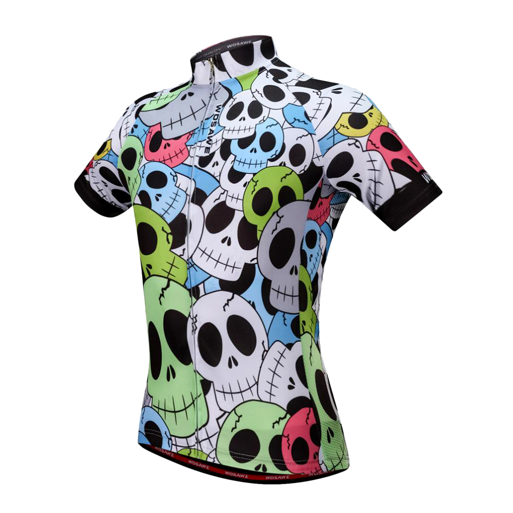 Cycling Short Sleeve Jerseys Bicycle Running <font><b>Bike</b></font> Top T-shirt Skull Pattern M L XL XXL XXXL Men's Cycling <font><b>Equipment</b></font> image