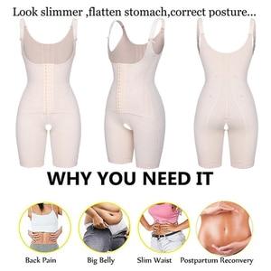 Image 5 - Womens Open Bust Corset Body Shaper Thigh Reducer Firm Tummy Control Shapewear Bodysuit Fajas Colombianas Slimming Underwear