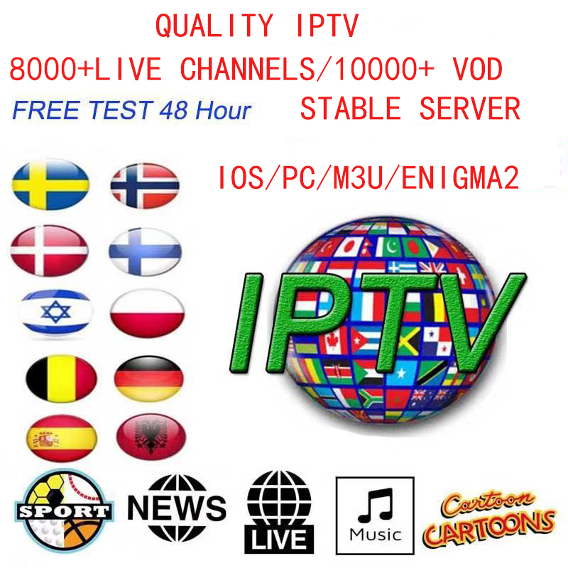 4K HD Iptv Subscription For IOS/MAG/ENIGMA2/M3U/ ANDROID/ SPAIN/NETHERLANDS/SWEDEN/PORTUGAL/ITALY/UK/SPORTS/ADULT 18+/ TV SHOWS