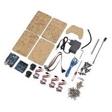 4DOF манипулятор для Arduino, Роботизированный пульт дистанционного управления Ps2 Mg90S SNAM1900 (ЕС Plug)