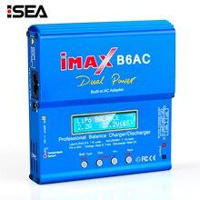 HTRC iMAX B6 AC 80 Вт B6AC RC зарядное устройство 6A двухканальный баланс зарядное устройство Li-Ion Nimh Nicd Lipo батарея цифровой ЖК-экран Dis зарядное устройство