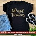 Женская футболка 60 и сказочная, подарок на день рождения, забавный подарок на 60 и 60 лет, 1960