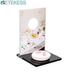 Retekess TD024 Mechanical Desktop Card For Call Button Restaurant Pager Customer Service Wireless Caller Waiter Call Button