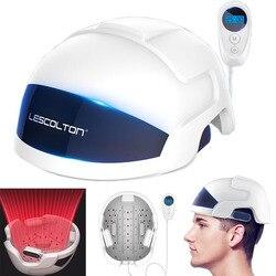 Восстановление волос светодиодный инфракрасный легкий шлем быстрый рост волос cap средство от выпадения волос для мужчин женщин LLLT лазерное...
