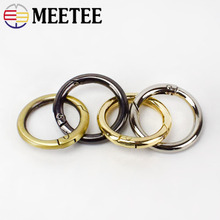 10pcs/30pcs Meetee 25mm Spring Metal D O Ring Bags Belt Strap Dog Chain Buckles DIY Snap Clasps Hardware Accessories Wholesale
