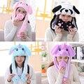2020 Женская плюшевая шапка с движущимися кроличьими ушками, женская шапка-подушка безопасности с единорогом для детской вечеринки, женские ...