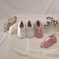 Zima nowe dzieci dziewczyny wełna jagnięca obuwie dziecięce wełniane buty wygodne dziecięce buty miękkie podeszwy ciepła  jasna buty dla małego dziecka w Trampki od Matka i dzieci na