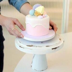 Подметтого 4-дюймовая искусственная модель торта для помадки в глине, синий/розовый/желтый для демонстрации магазина, реквизит для фотограф...