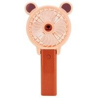 Ofertas superiores ventilador de mão portátil desktop mini ventilador bonito em forma ventilador de carregamento Vent.    -