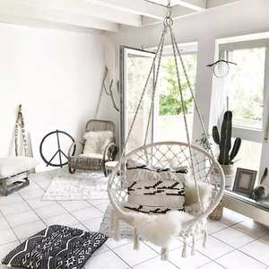 White Hammock Hanging-Chair Dormitory Balcony Garden Round Nordic-Style Outdoor Adult