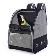Sac à dos de transport pour perroquet, Cage à oiseaux, respirant, pliable, léger, voyage, maille PU polyvalente, sac pour perruches et perroquets pour animaux de compagnie