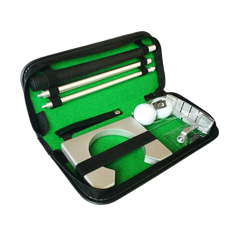 Indoor Training Equipment Golf Putter Putting Trainer Set Golfs Ball Holder Training Aids Tool