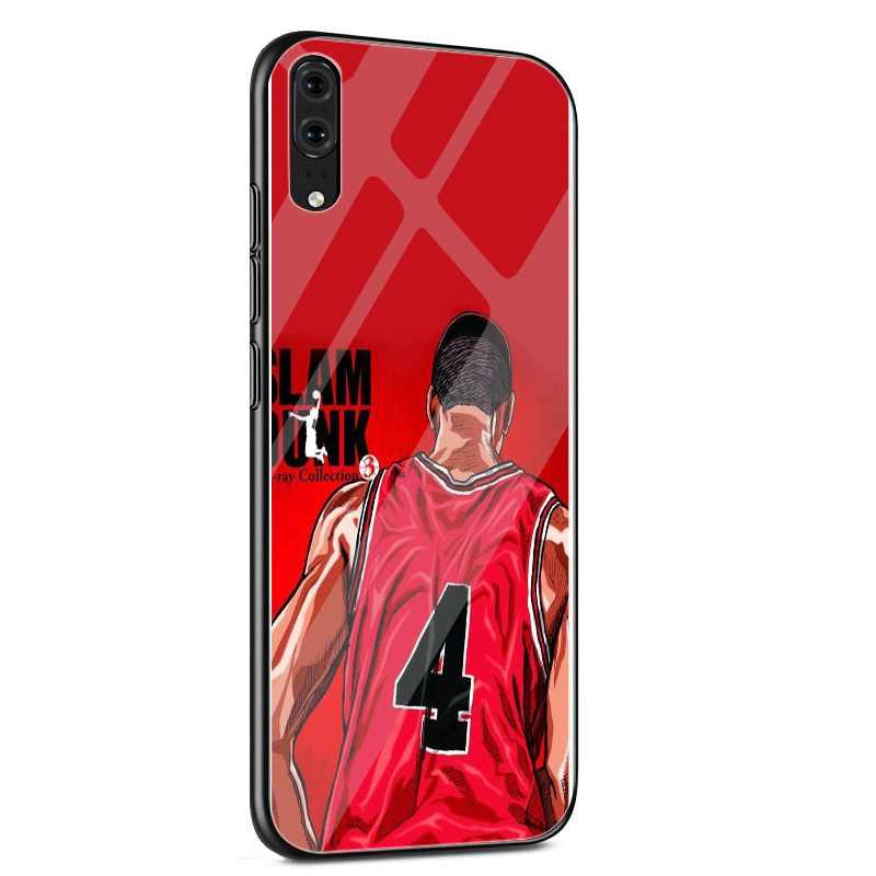 Стеклянный Чехол для мобильного телефона huawei mate Honor 8X9 10 7A 20 P30 P20 P10 Lite Pro P Smart Cover Slam dank аниме