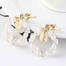 2019 Earings Pendientes Mujer Moda  kolczyki pendientes Personality Knotted Earrings Ring Imitation Pearl aretes de mujer
