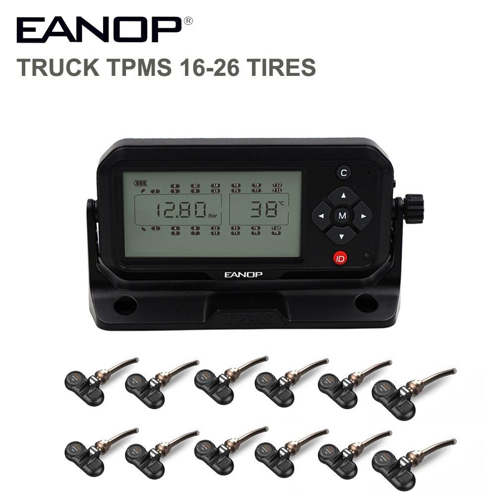 EANOP TPMS 16/26 Räder Reifen Druck Überwachung System Reifen Druck Alarm Interne Sensoren BAR/PSI