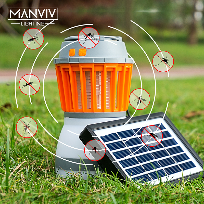 LED Solar Mosquito killer USB electric mosquito killer Lamp Photocatalysis mute home LED bug zapper insect trap Radiationless