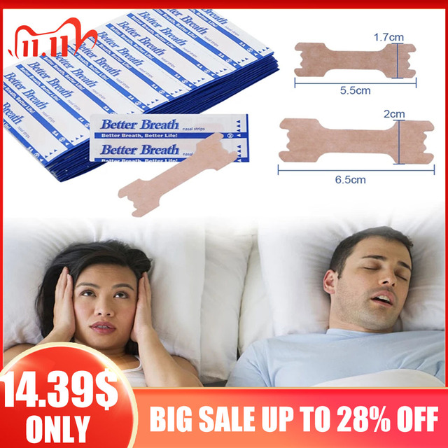 200pcs Anti Snoring Nasal Patch Better Breathe Good Sleeping Nasal Strips Stop Snoring Strips Easier Health Care Patch Product