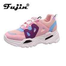 Fujin Women Sneakers 2020 Designer Vulcanized Shoes Breathab