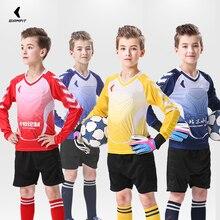 Футбольная Джерси Вратарская рубашка брюки Survetement футбол тренировочная форма костюм детский утолщенный защитный комплект на заказ