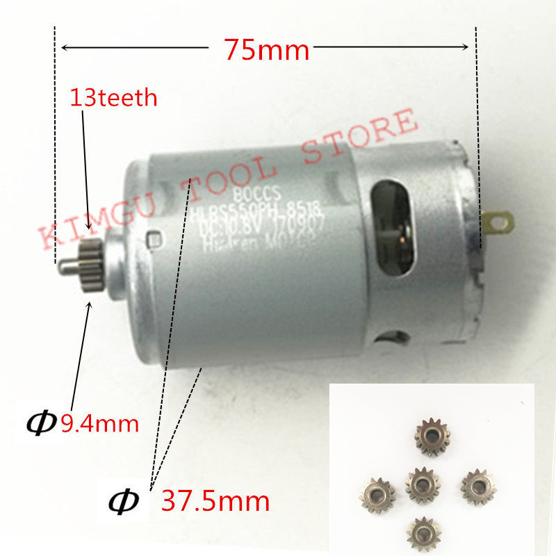 13 Teeth Motor 10.8V Replace For BOSCH GSB10.8-2-LI GSB12V-15 PS130 GSB1080-2-LI GSB120-LI GSB1200-2-LI  GSR120-LI