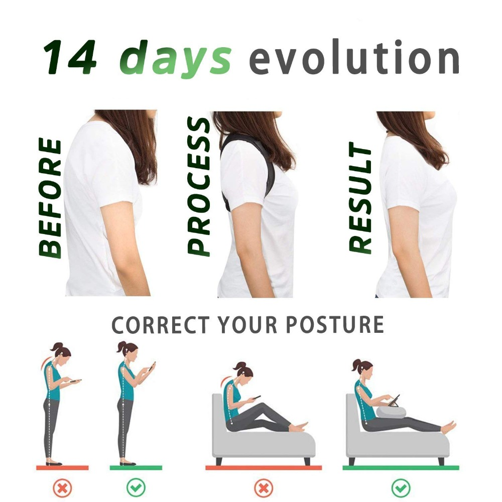 H2d6807d758e84b35972a35e82d215ac2T - Brace Support Belt Adjustable Back Posture Corrector Clavicle Spine Back Shoulder Lumbar Posture Correction