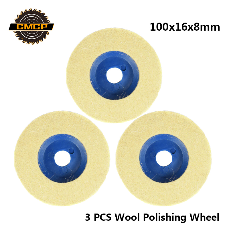 CMCP Abrasive Buffing Wheel 100x16x8mm Wool Polishing Wheel And Grinder Buffing Pad  For Polishing Tools