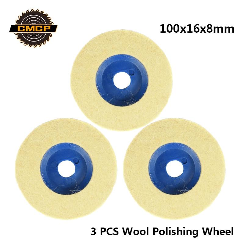 CMCP Grinder Disc Wheel  Wool Polishing Wheel  Angle Grinder Buffing Pad Size 100x16x8mm Felt Polishing Disc