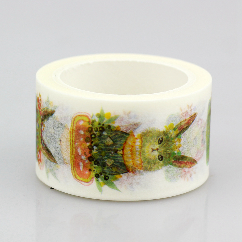 10pcs/lot Decorative Cute Bunny Washi Tapes Paper DIY Scrapbooking Planner Adhesive Masking Tapes Kawaii Stationery