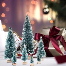 7PCS Mini Snow Frost Trees Winter Ornaments for Home Table Top Christmas Decor