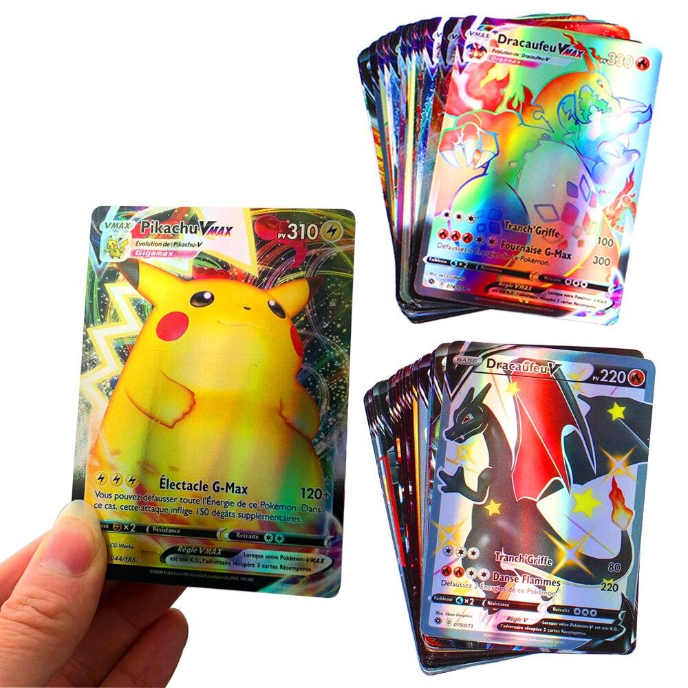 Бесплатная доставка Все 30 шт. Vmax французские карты Pokemon новейшая коллекция