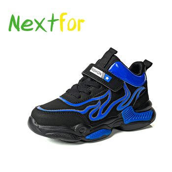 New Trend Children Boy Sport Shoes High Top Kids Trainers Rubber Teenage Boys Blue Yellow Running Size 28-40