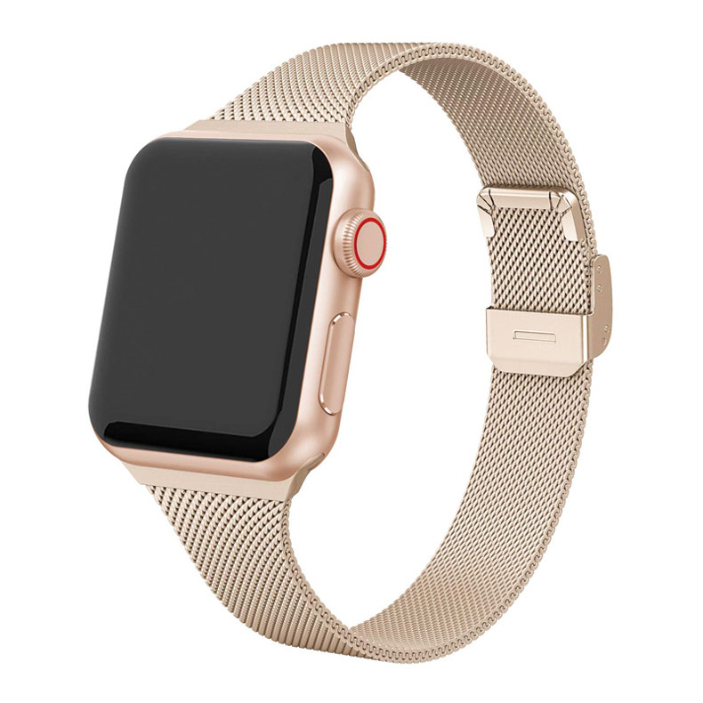 Bracelet minceur en acier inoxydable pour bracelet de montre apple 38mm 40mm bracelet montre apple 38mm 40mm série iwatch 5/4/3/2/1 bracelet