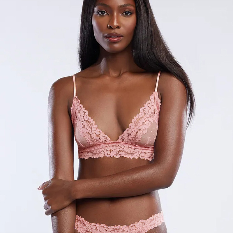 Sexy Dot Mesh Bra Sexi Women Bralette Lace Lingerie Transparent Brassiere Crop Top Women See Through Bras Lenceria
