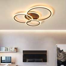 купить White/Bronw Modern Led Ceiling Light nordic ceiling lights For Living Room Dining room Bedroom Foyer ceiling lamp plafonnier led по цене 4240.04 рублей