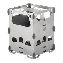Keith ti2201 fogão a lenha de titânio acampamento ao ar livre ultra leve portátil mini fogão aquecimento grill