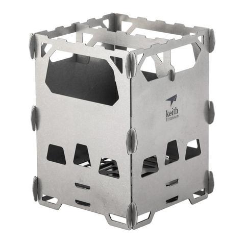 keith ti2201 fogao a lenha de titanio acampamento ao ar livre ultra leve portatil mini